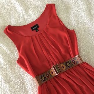 by&by Red Sleeveless Fit & Flare Dress